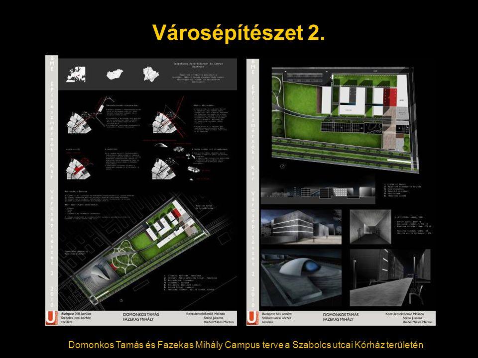 Városépítészet 2. Domonkos Tamás és Fazekas Mihály Campus terve a Szabolcs utcai Kórház területén