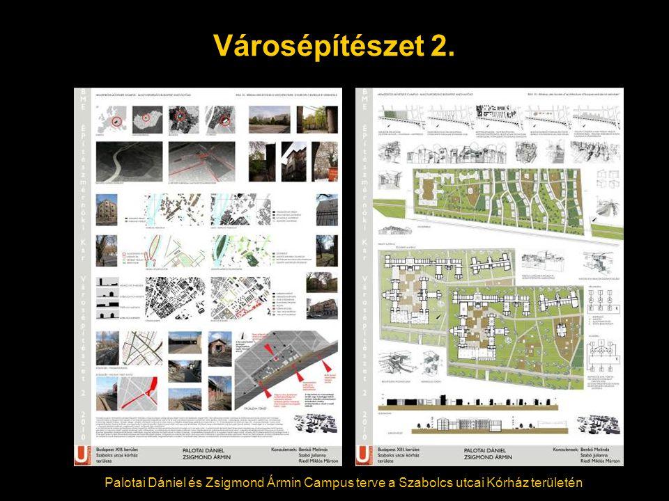 Városépítészet 2. Palotai Dániel és Zsigmond Ármin Campus terve a Szabolcs utcai Kórház területén