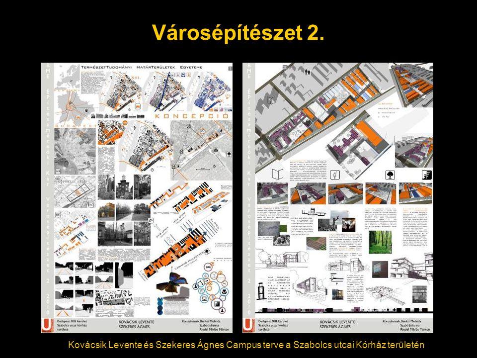 Városépítészet 2. Kovácsik Levente és Szekeres Ágnes Campus terve a Szabolcs utcai Kórház területén