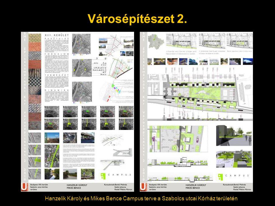 Városépítészet 2. Hanzelik Károly és Mikes Bence Campus terve a Szabolcs utcai Kórház területén
