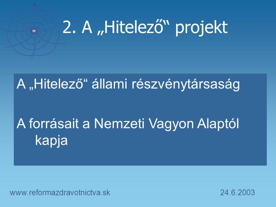 24.6.2003www.reformazdravotnictva.sk 2.