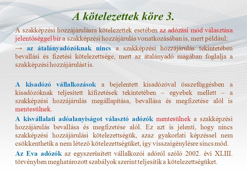 Gyakorlati képzési normatíva meghatározása 5.Példa egy Kft.