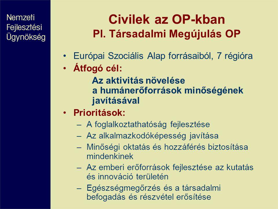 Civilek az OP-kban Pl.