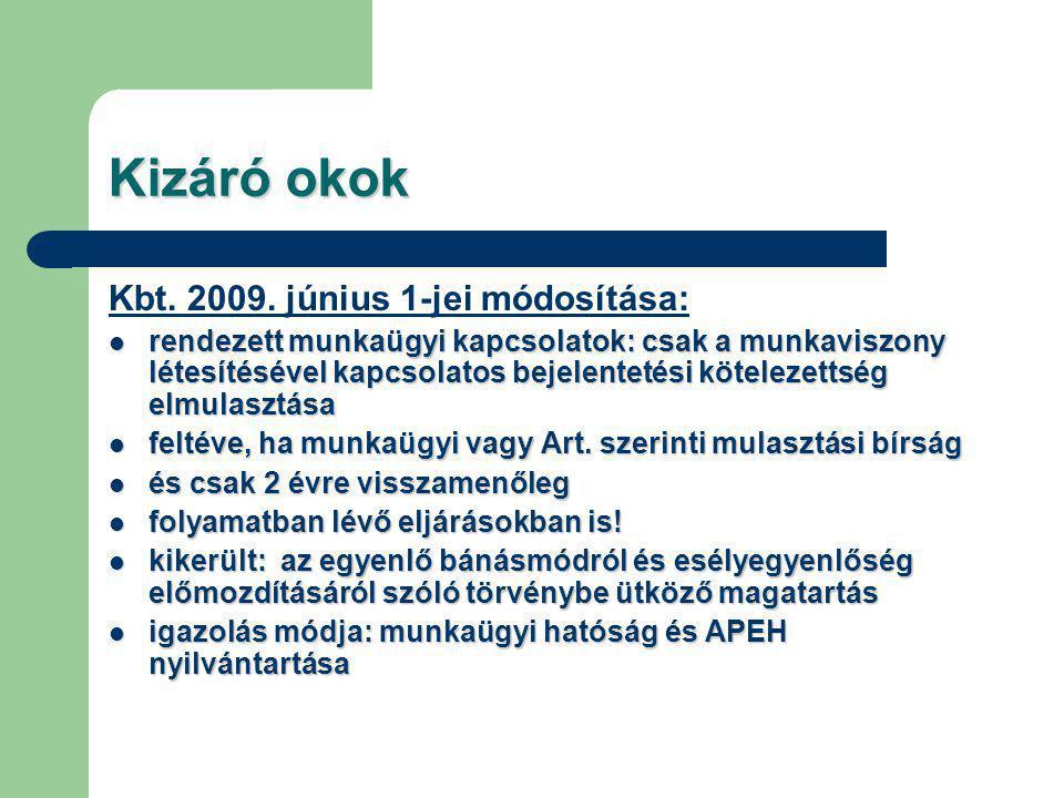 Kizáró okok Kbt. 2009.