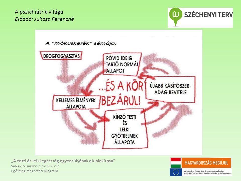 """""""A testi és lelki egészség egyensúlyának a kialakítása"""" SARKAD-DAOP-5.1.1-09-2f-17 Egészség megőrzési program A pszichiátria világa Előadó: Juhász Fer"""