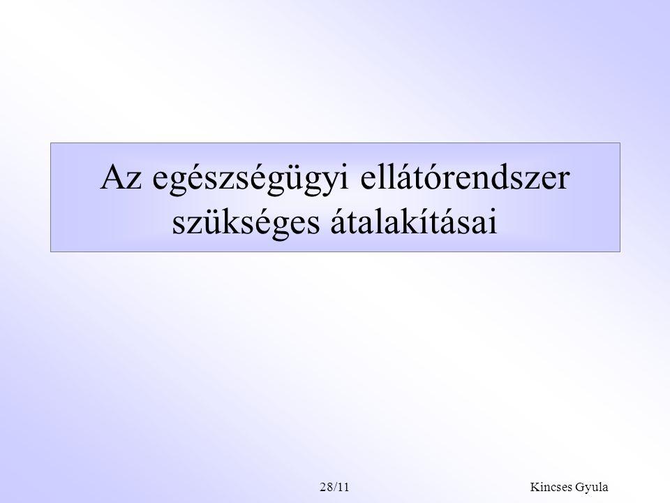 Kincses Gyula28/10 A magánfinanszírozás rendszerré szervezésének feltétele A magánfinanszírozás átláthatósága, a paraszolvencia felszámolása csak akko