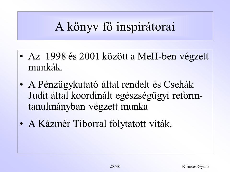 """Kincses Gyula28/29 Az MSA rendszer hátrányai A dolog csak helyén kezelhető, félő, hogy a politika """"beleszeret , és arra is akarja használni, amire nem való."""