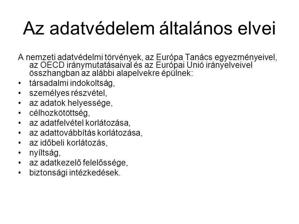 II.Adatvédelem biztosítási jogszabályokban 2003. évi LX.