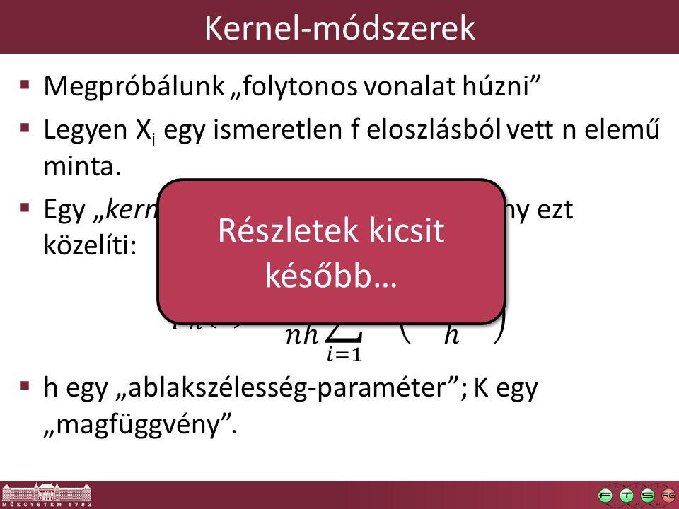 Kernel-módszerek Részletek kicsit később…