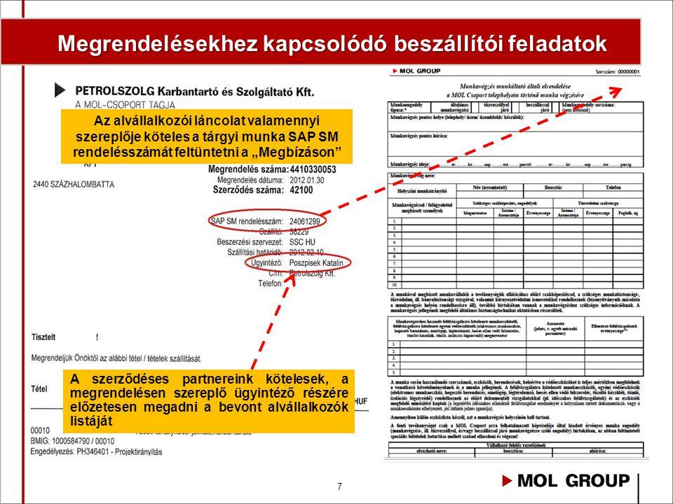 8 Új MeFTIR éles indulás: 2013.október 1.