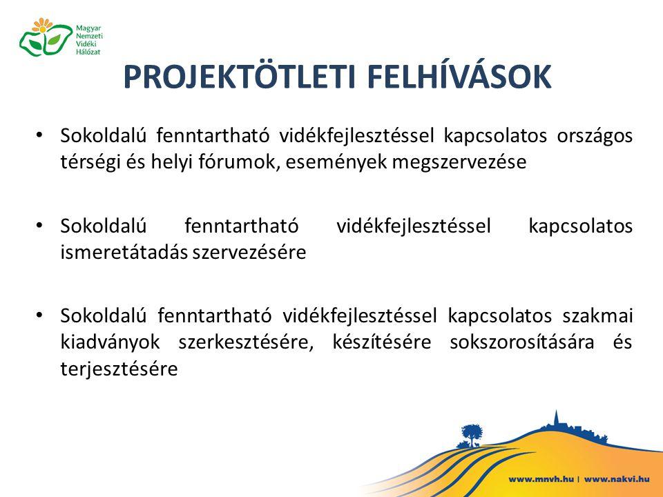 Sokoldalú fenntartható vidékfejlesztéssel kapcsolatos országos térségi és helyi fórumok, események megszervezése Sokoldalú fenntartható vidékfejleszté