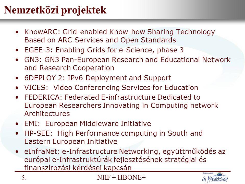 Nemzeti Információs Infrastruktúra Fejlesztési Intézet NIIF + HBONE+ Az NIIF Intézet ÚMFT részvétele 6.