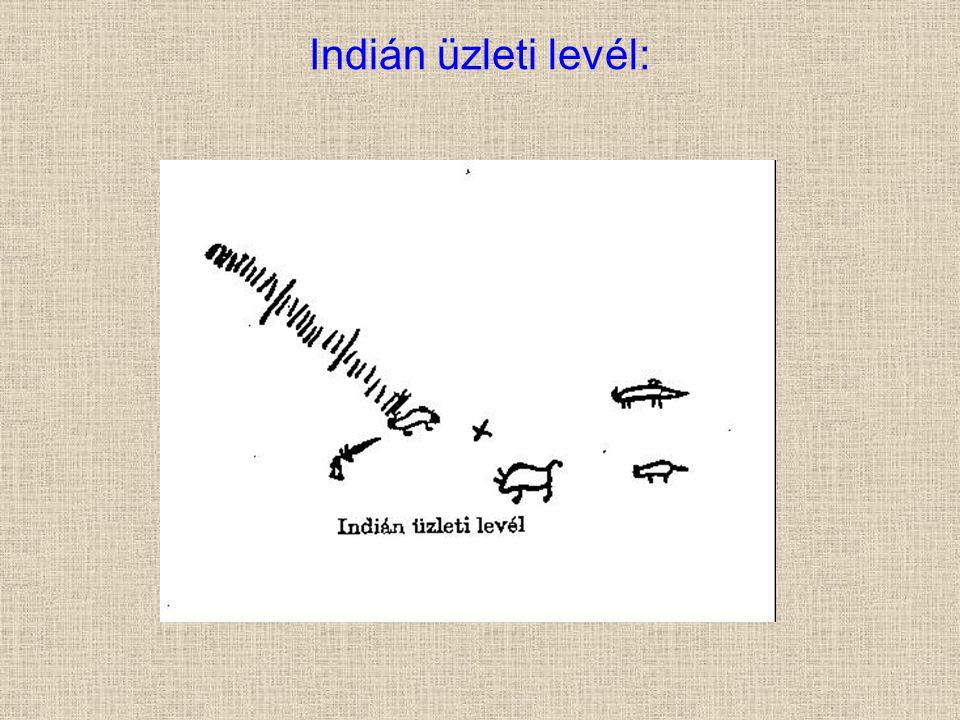 Indián üzleti levél: