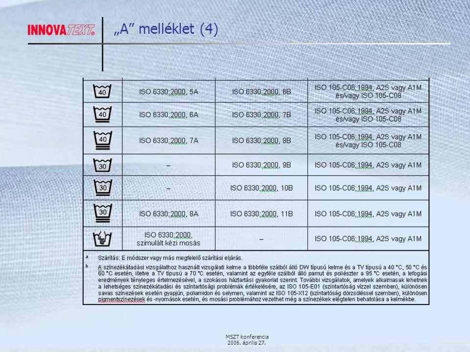 """MSZT konferencia 2006. április 27. """"A melléklet (4)"""