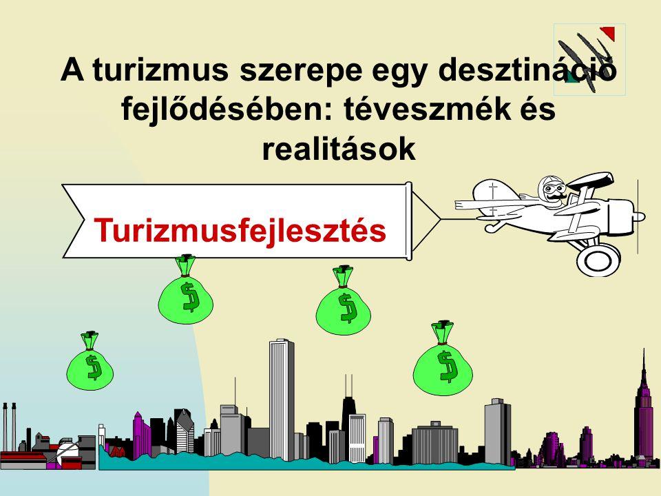 A turizmus szerepe egy desztináció fejlődésében: téveszmék és realitások Turizmusfejlesztés