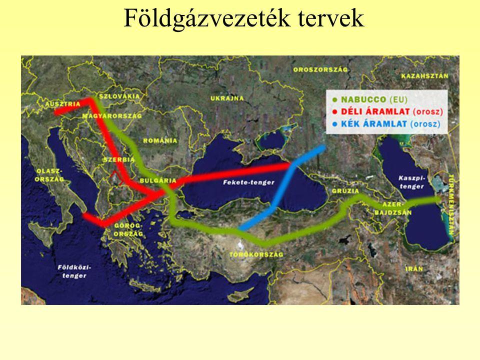 Földgázvezeték tervek