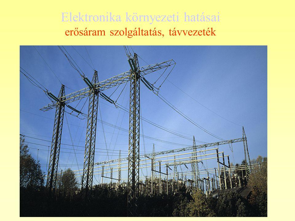 Elektronika környezeti hatásai erősáram szolgáltatás, távvezeték