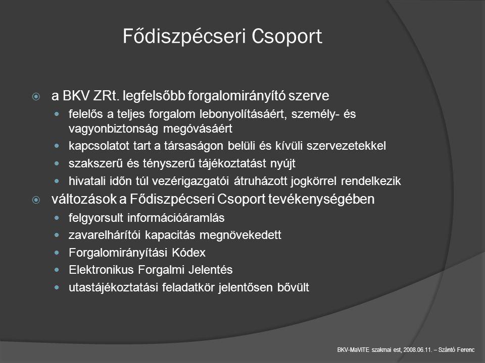 BKV-MaViTE szakmai est, 2008.06.11.– Szántó Ferenc Fődiszpécseri Csoport  a BKV ZRt.