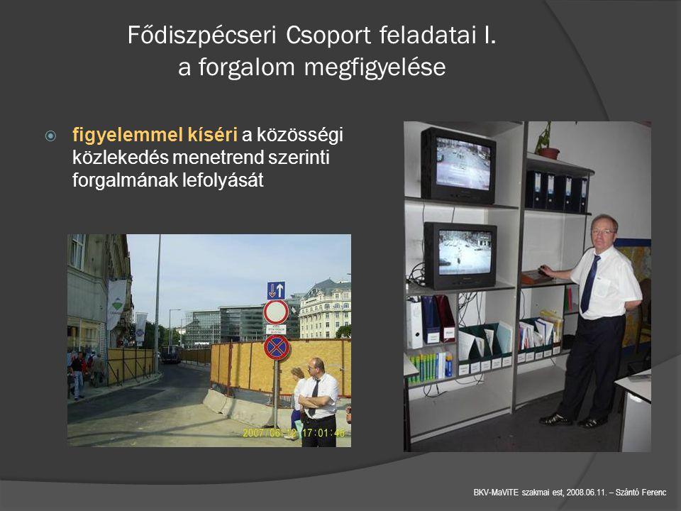 BKV-MaViTE szakmai est, 2008.06.11.– Szántó Ferenc Fődiszpécseri Csoport feladatai I.