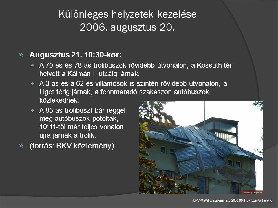 BKV-MaViTE szakmai est, 2008.06.11.– Szántó Ferenc Különleges helyzetek kezelése 2006.