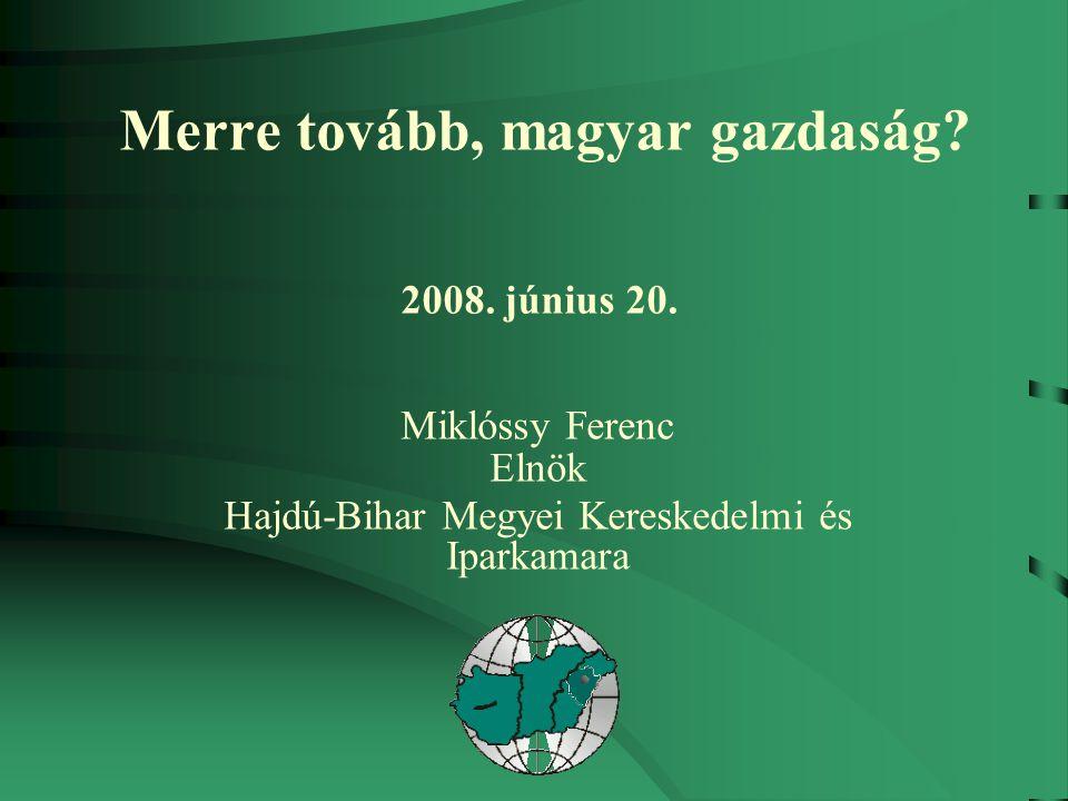 Merre tovább, magyar gazdaság. 2008. június 20.