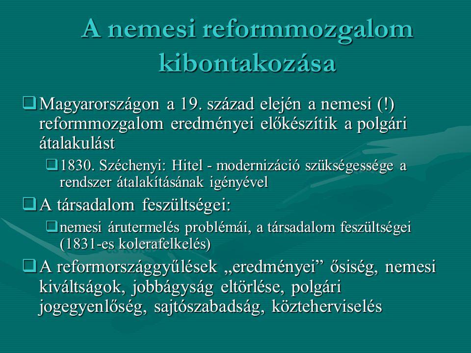 1848-as magyar polgári forradalom eredményei  Az európai események felgyorsítják a változásokat:  Pesten győz a forradalom március 15-én  Pozsonyban lázas törvényalkotás kezdődik  V.