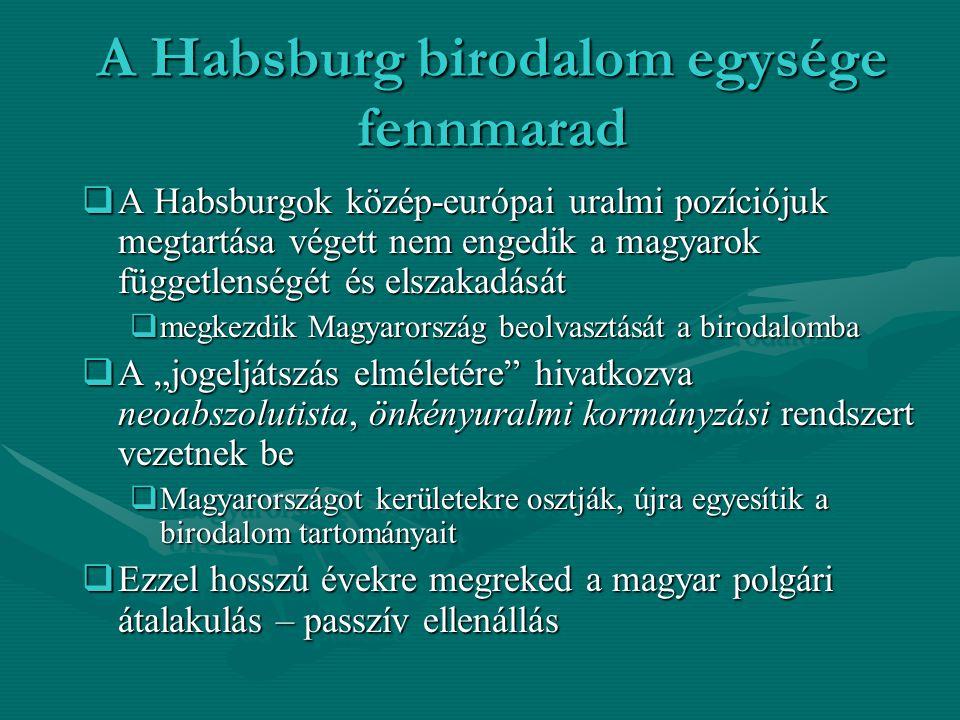 A magyarországi gazdasági átalakulások kerete:  Ezzel bebizonyosodik, hogy Magyarország a 19.
