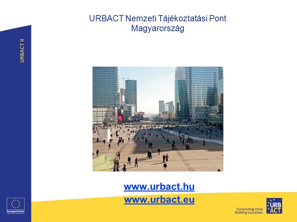 URBACT Nemzeti Tájékoztatási Pont Magyarország www.urbact.hu www.urbact.eu