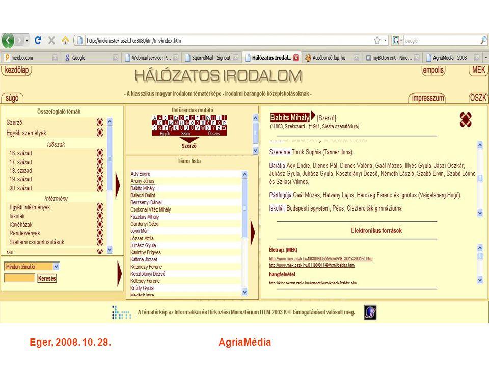 Eger, 2008.10. 28.AgriaMédia III.2.