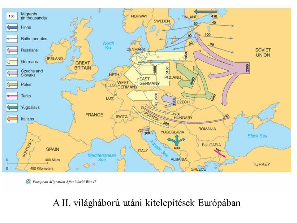 A II. világháború utáni kitelepítések Európában