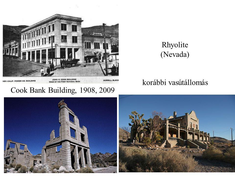 Rhyolite (Nevada) korábbi vasútállomás Cook Bank Building, 1908, 2009