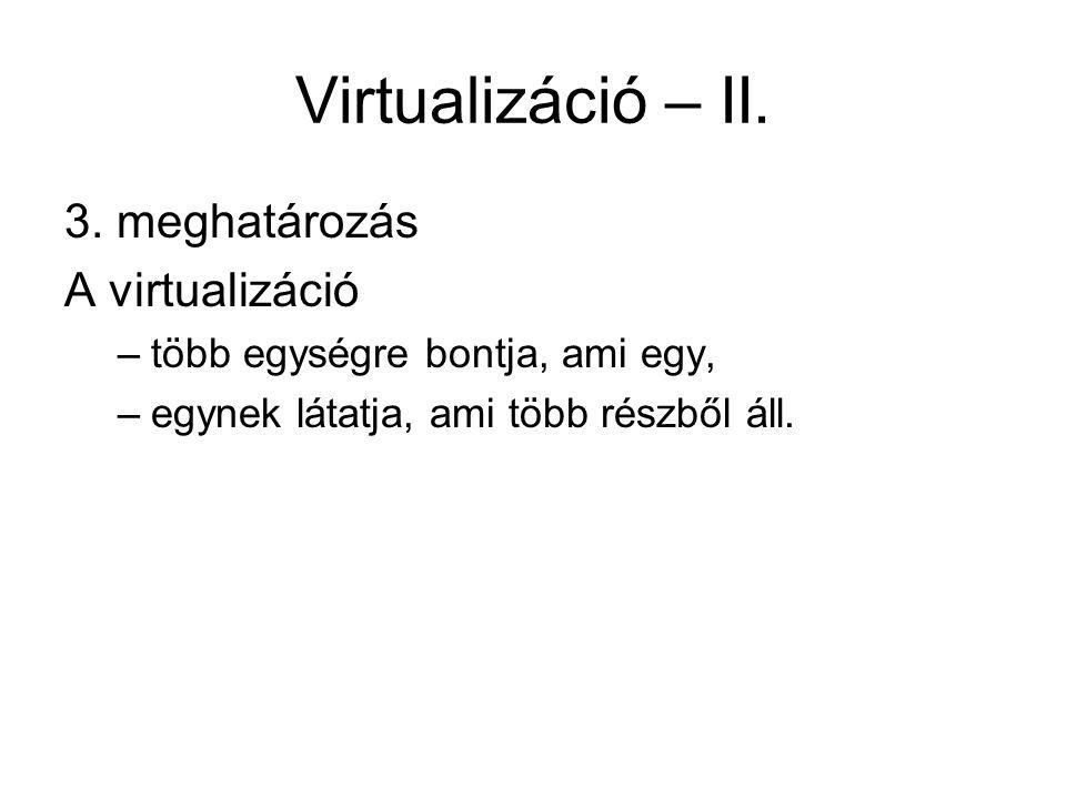 Virtualizáció – II.3.