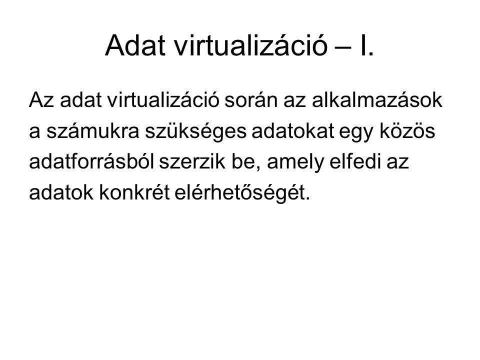Adat virtualizáció – I.