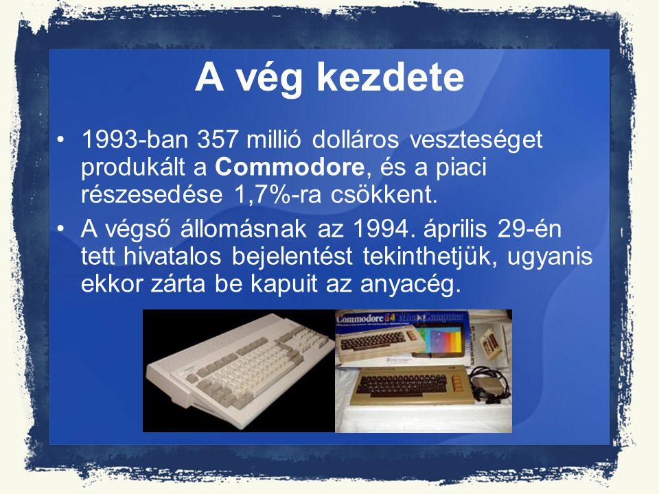 A vég kezdete 1993-ban 357 millió dolláros veszteséget produkált a Commodore, és a piaci részesedése 1,7%-ra csökkent. A végső állomásnak az 1994. ápr