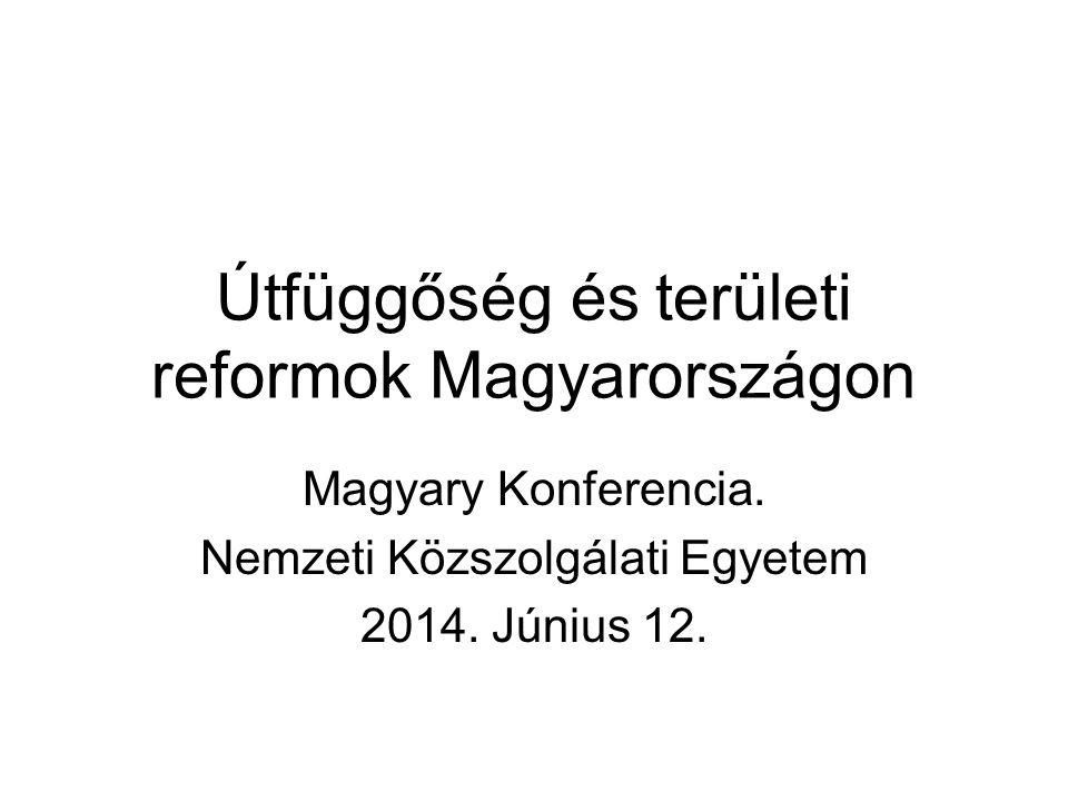 Útfüggőség és területi reformok Magyarországon Magyary Konferencia.