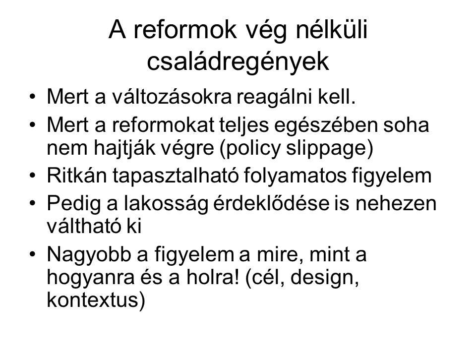 A reformok vég nélküli családregények Mert a változásokra reagálni kell.