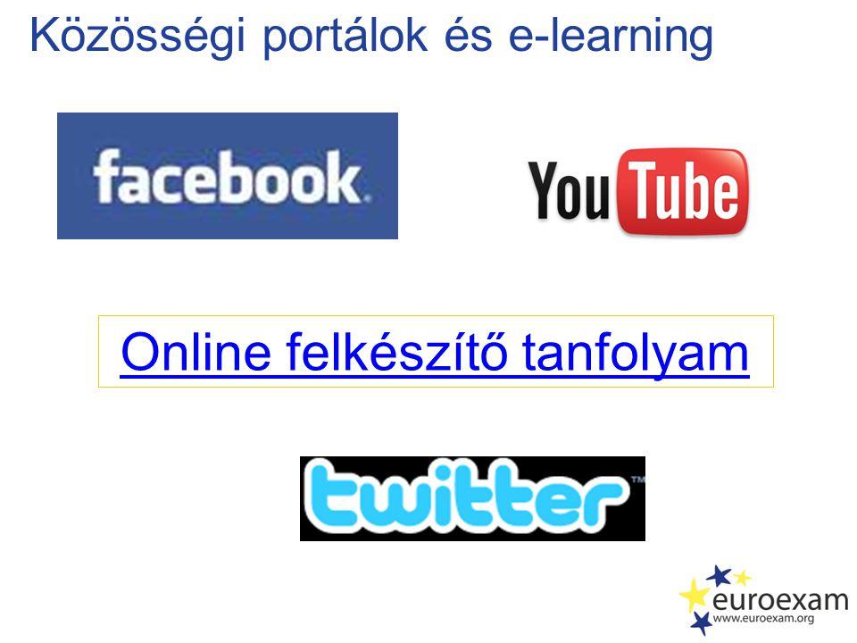 Közösségi portálok és e-learning Online felkészítő tanfolyam