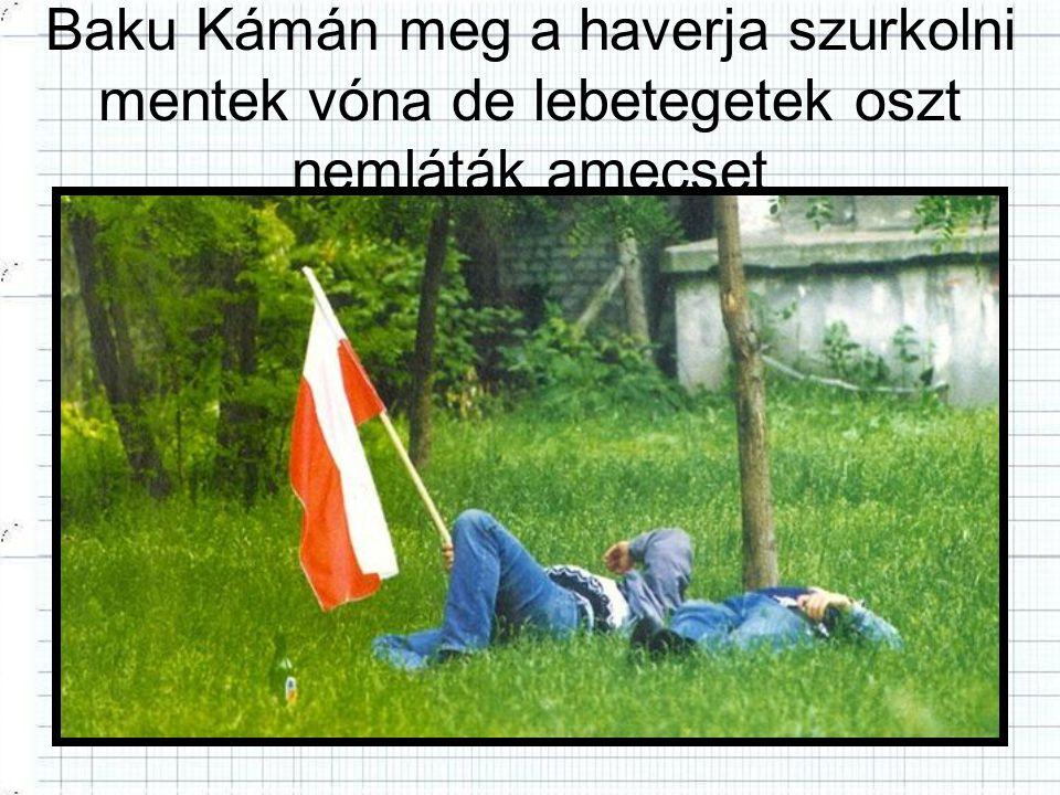 Baku Kámán meg a haverja szurkolni mentek vóna de lebetegetek oszt nemláták amecset