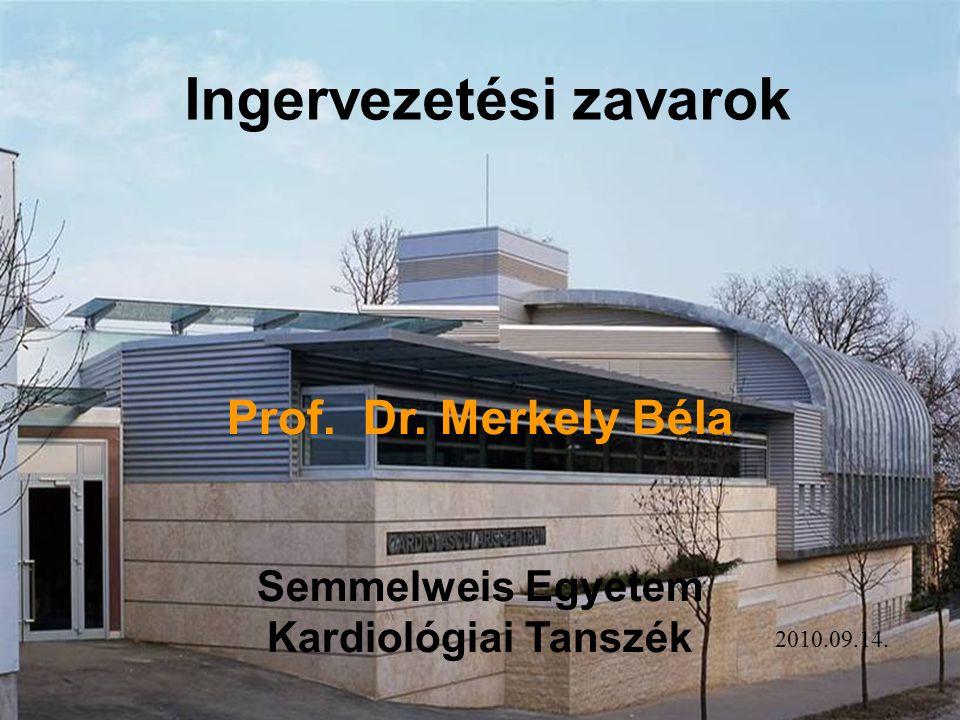 Prof. Dr. Merkely Béla Semmelweis Egyetem Kardiológiai Tanszék Ingervezetési zavarok 2010.09.14.