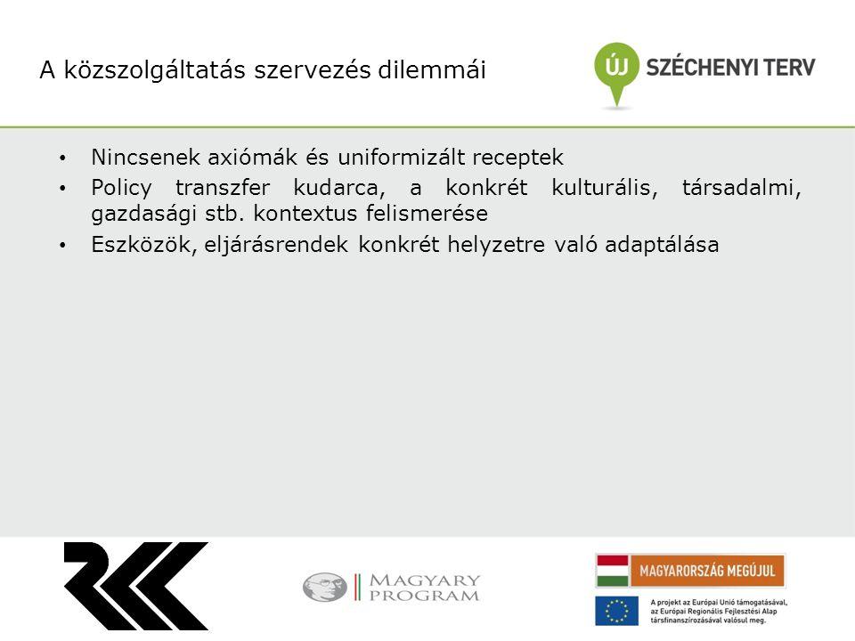Hatáselemzés Költséghaszon elemzés Benchmarking Szoftabb módszerek: elégedettség mérés hozzáférés méltányosság elemzése Értékelési módszerek