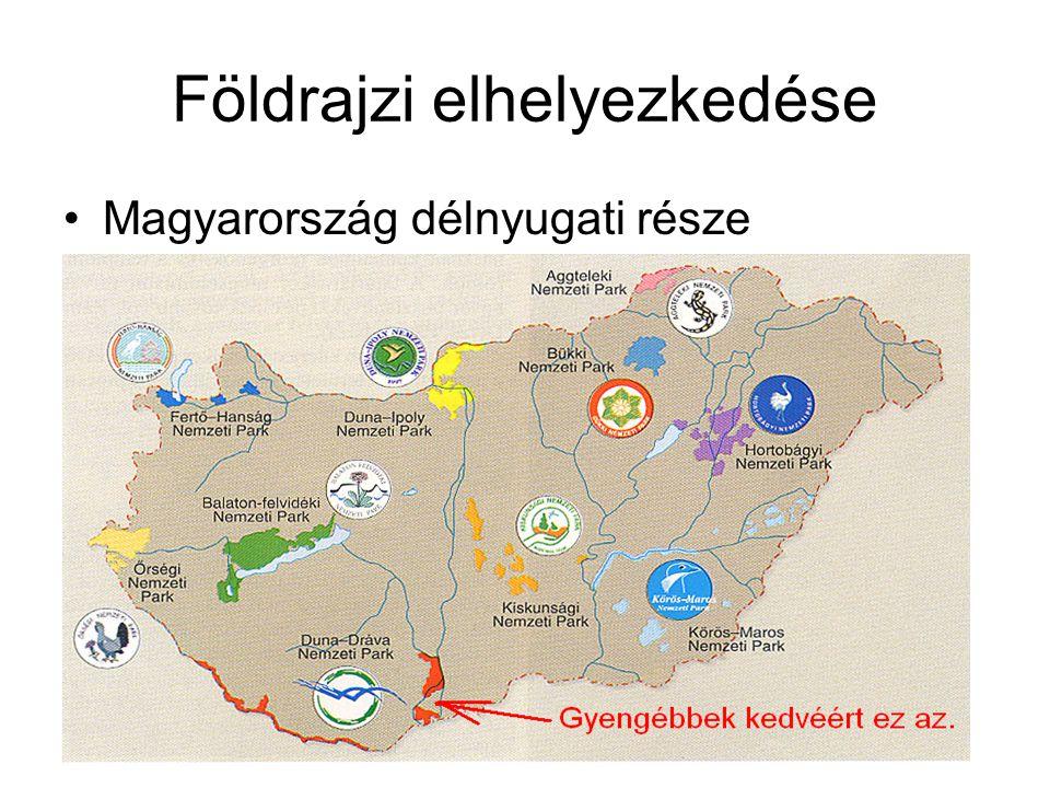 Földrajzi elhelyezkedése Magyarország délnyugati része