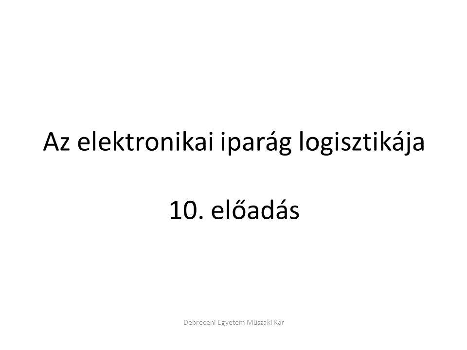 Az elektronikai iparág logisztikája 10. előadás Debreceni Egyetem Műszaki Kar