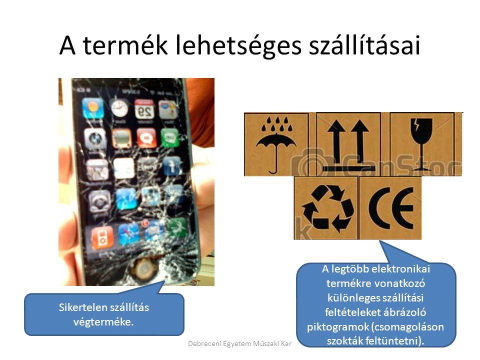 A termék lehetséges szállításai Debreceni Egyetem Műszaki Kar Sikertelen szállítás végterméke. A legtöbb elektronikai termékre vonatkozó különleges sz