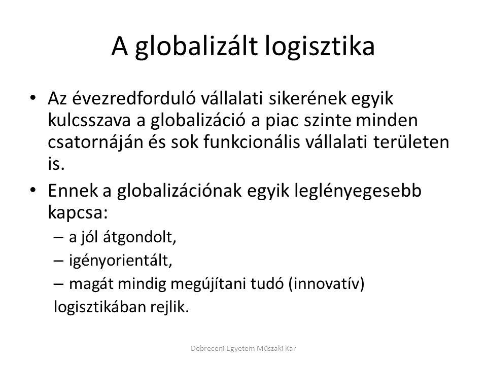 A globalizált logisztika Az évezredforduló vállalati sikerének egyik kulcsszava a globalizáció a piac szinte minden csatornáján és sok funkcionális vá