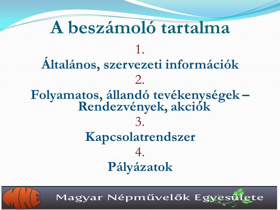 1.Általános, szervezeti információk – 1.