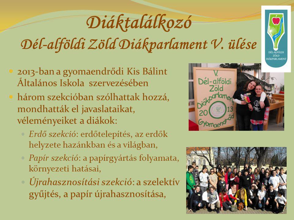 Diáktalálkozó Dél-alföldi Zöld Diákparlament V.