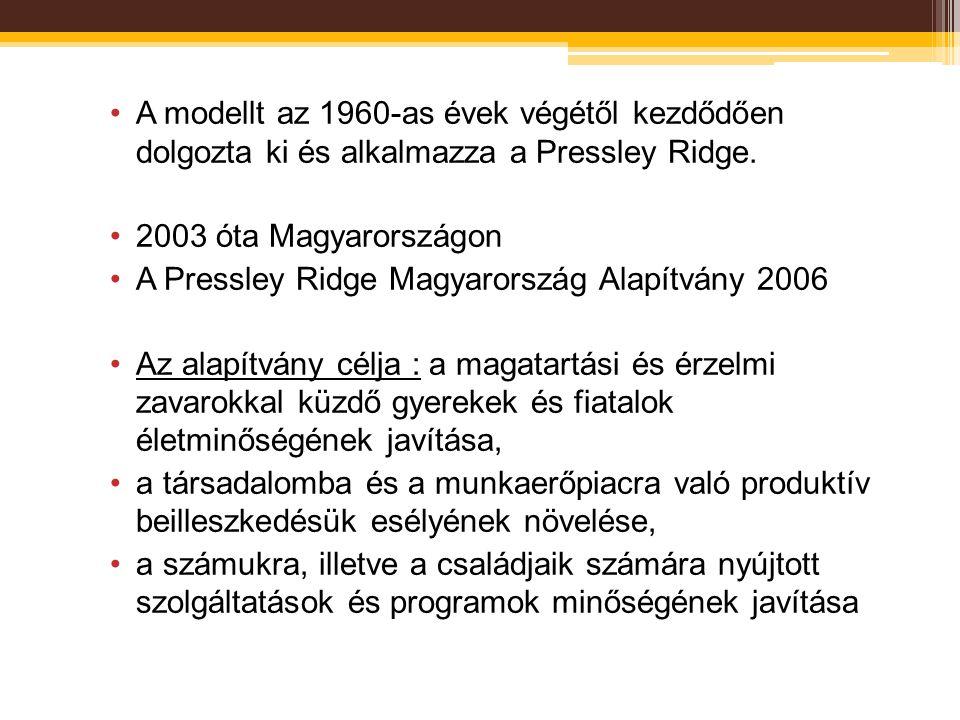 A modellt az 1960-as évek végétől kezdődően dolgozta ki és alkalmazza a Pressley Ridge. 2003 óta Magyarországon A Pressley Ridge Magyarország Alapítvá
