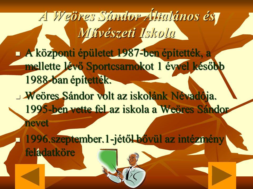 Weöres Sándor 1913.június.22-én született Szombathelyen. 1913.június.22-én született Szombathelyen. Földbirtokos katonatiszt apa,Weöres Sándor és műve