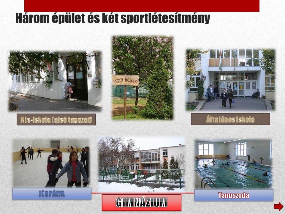 Három épület és két sportlétesítmény