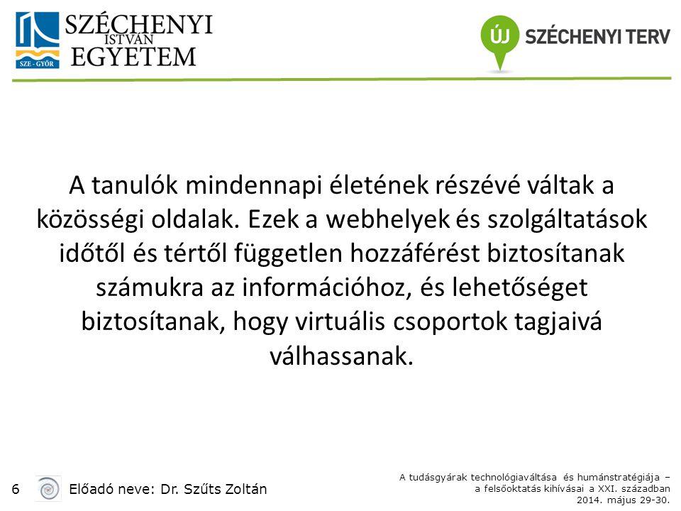 1717 Előadó neve: Dr.